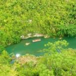 Zip-line nad Liboc river