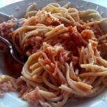 Špagety v bufetu